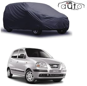 ABS AUTO TREND  Grey Matty Car Cover for  Hyundai Santro Xing with Triple Stitched and Elastic Hem Around The Bottom