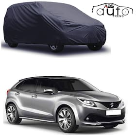 ABS AUTO TREND  Grey Matty Car Cover for  Maruti Suzuki Baleno with Triple Stitched and Elastic Hem Around The Bottom
