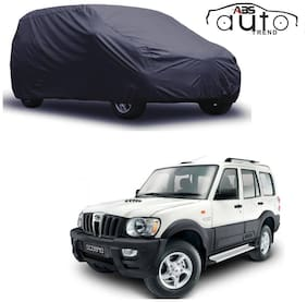 ABS AUTO TREND  Grey Matty Car Cover for  Mahindra Scorpio with Triple Stitched and Elastic Hem Around The Bottom
