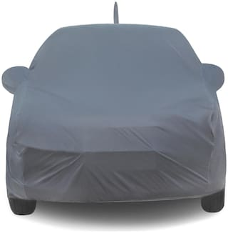 Car Body Cover For Maruti Baleno Car Cover with Storage Bage (Grey)