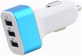 Car Charger 3 USB Port;Quick Charger 1Pcs 2.1;Rapid faster charging for multiple devices 6A (30W) total output Assorted colours
