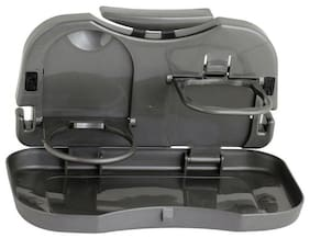Car Cup Holder Tray   Back Seat Dining Tray   Compatible With All Car Model, Foldable, SELECT COLOR BLACK OR BEIGE