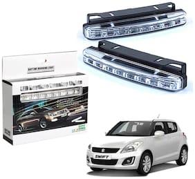 Auto Ryde Car Day Time Running Light Drl 8 Led Super White For Maruti Suzuki Swift