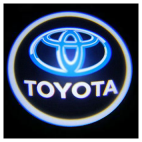 Car Door Welcome Light LED Projection Ghost Shadow Light Laser Toyota Logo