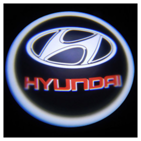 Car Door Welcome Light LED Projection Ghost Shadow Light Laser Hyundai Logo