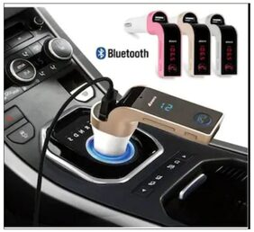 Car G7 Bluetooth FM Transmitter with USB Flash Drives/TF Music Player Bluetooth Car Kit USB Car Charger Compatible for All Android & iOS Mobiles for Honda Accord, Colour:Random (Pack of 1)