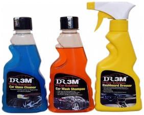 CAR GLASS CLEANER 250ml.+ DASHBOARD POLISH 250ml.+ CAR WASH SHAMPOO 250ml.