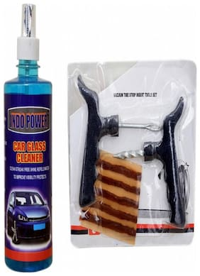 CAR GLASS CLEANER 500ml+ Tubelass smart Panchar Kit.
