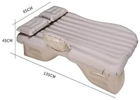 Car Inflatable Bed cum Sofa with Two Pillows   Three Separate Compression Sacks   One Powerful Electric Pump