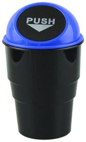Car Mini Glass Size Garbage Can Trash Dust Bin Plastic Dustbin  (Assorted Color)