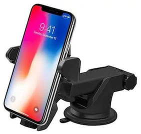 Car Mobile Holder 3 in 1 Car Mount Holder Adjustable Dashboard;Wind Shield & Desktop Mounting for All Smartphones and Mobiles (Android;IPhone) 4th Generation