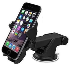 Car Mobile Holder 3 in 1 Car Mount Holder Adjustable Dashboard;Wind Shield & Desktop Mounting for All Smartphones and Mobiles (Android;IPhone) 4th Generation;Black