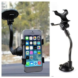 Car Mobile Holder Soft Tube Arm Stand With 360 deg Rotation For Car Dashboard/Windshield with Super Strong Air Lock Technology