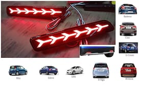 Car Reflector Led Brake Light for Bumper(Rear/ Back) Drl for Maruti Suzuki Ertiga- Set of 2 pc with wiring (For Maruti Suzuki Baleno/Breeza/Ciaz/Ertiga/New Swift Dzire/Scross/Ritz/SX4)