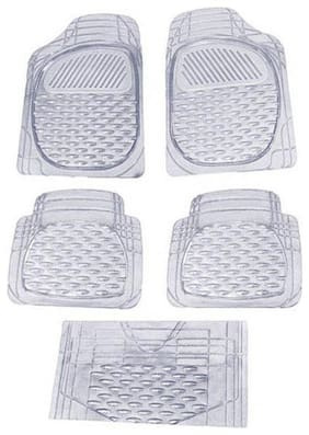 Car Rubber Foot Mat White Transparent Set Of 5 pc For Tata Altroz