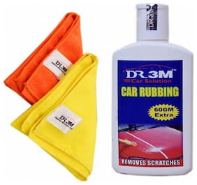 CAR RUBBING 200g(60 g EXTRA)+2pc.MICROFIBER CLOTH (ORANGE+YELLOW).
