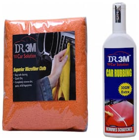 CAR RUBBING 100g(30 g EXTRA)+MICROFIBER CLOTH (ORANGE).