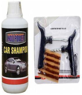 CAR SHAMPOO 250ml+ Tubelass smart Panchar Kit.