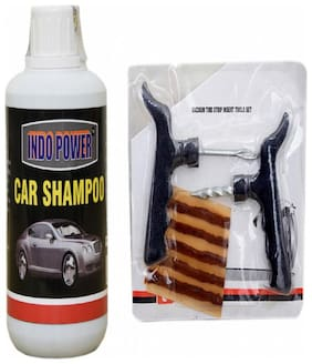 CAR SHAMPOO 250ml+ Tubelass smart Panchar Kit.