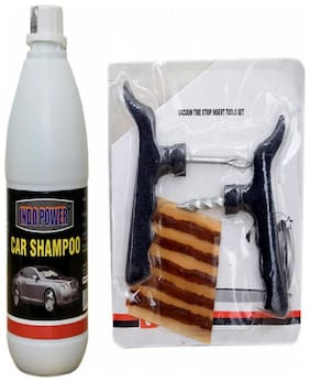 CAR SHAMPOO 500ml+ Tubelass smart Panchar Kit.