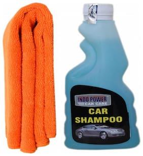 CAR SHAMPOO 250ml.+ 1PC CAR MICROFIBER CLOTH ORANGE.