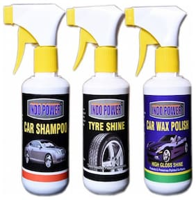 CAR SHAMPOO GUN 250ml.+TYRE SHINER GUN 250ml.+CAR WAX POLISH GUN 250ml.