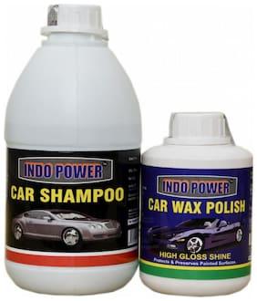 CAR SHAMPOO 500ml.+ CAR WAX POLISH 250ml.