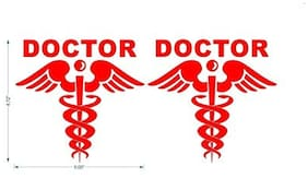 car stickers New design doctor logo car sticker for window;hood;bumper car stickers colour red size 14.5X15.5 cm
