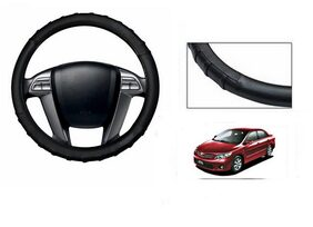 True Vision Grippy Leatherette Car Steering Cover Black For Toyota Corolla Altis