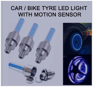 Bg bazzar gali Special Car Tyre Led Light With Motion Sensor (Set Of 4)