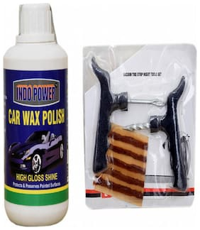 CAR WAX POLISH 250 g+ Tubelass smart Panchar Kit.