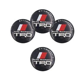 car wheel hub emblem logo sticker for toyota trd sports