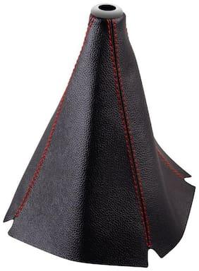 Carizo Car Gear Lever Leatherette Cover Black-Tata Indica Vista