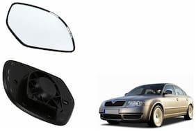 Carizo Car Rear View Side Mirror Glass RIGHT-Skoda Superb Type 1 (2004-2010)