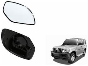 Carizo Car Rear View Side Mirror Glass LEFT-Mahindra Scorpio Type 1 (2006-2008)