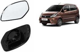 Carizo Car Rear View Side Mirror Glass LEFT-Maruti Zen Estilo Type 1