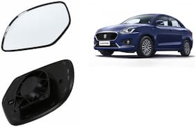 Carizo Car Rear View Side Mirror Glass LEFT-Maruti Swift Dzire 2018