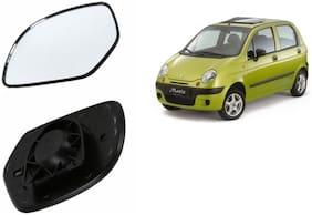 Carizo Car Rear View Side Mirror Glass LEFT-Daewoo Matiz