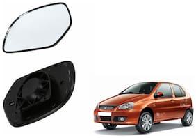 Carizo Car Rear View Side Mirror Glass RIGHT-Tata Indica Type 1