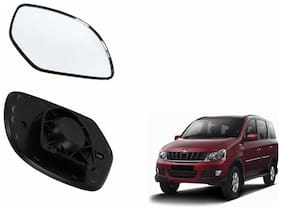 Carizo Car Rear View Side Mirror Glass LEFT-Mahindra Xylo Type 1 (2007-2009)