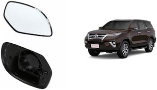 Carizo Car Rear View Side Mirror Glass LEFT-Toyota Fortuner Type 1