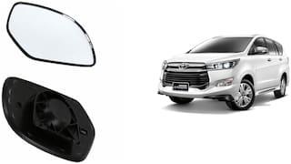Carizo Car Rear View Side Mirror Glass RIGHT-Toyota Innova Crysta