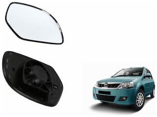 Carizo Car Rear View Side Mirror Glass RIGHT-Mahindra Logan Type 1