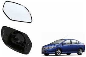 Carizo Car Rear View Side Mirror Glass LEFT-Honda City ZX