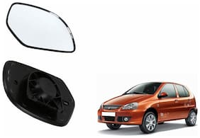 Carizo Car Rear View Side Mirror Glass LEFT-Tata Indica Type 1