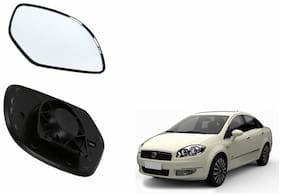 Carizo Car Rear View Side Mirror Glass LEFT-Fiat Linea
