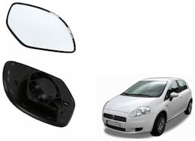Carizo Car Rear View Side Mirror Glass LEFT-Fiat Punto