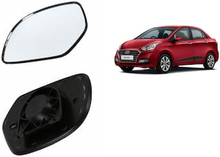Carizo Car Rear View Side Mirror Glass RIGHT-Hyundai Xcent Type 1