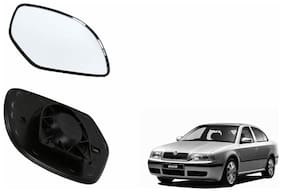 Carizo Car Rear View Side Mirror Glass LEFT-Skoda Octavia Type 1 (2001-2010)