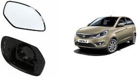 Carizo Car Rear View Side Mirror Glass LEFT-Tata Bolt